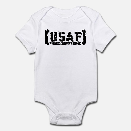 Proud USAF BF - Tatterd Style Infant Bodysuit
