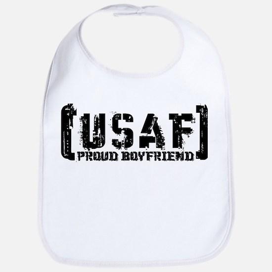 Proud USAF BF - Tatterd Style Bib