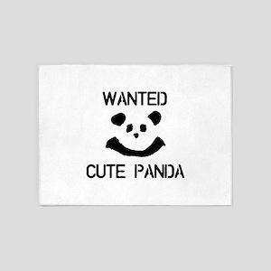 WANTED Cute Panda 5'x7'Area Rug