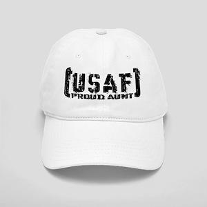 Proud USAF Aunt - Tatterd Style Cap