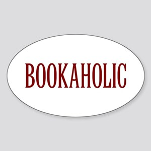 Bookaholic Sticker (Oval)