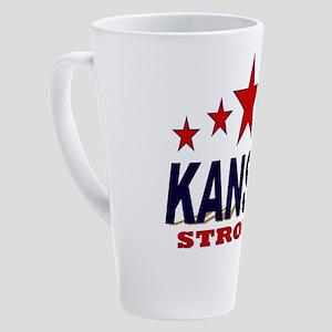 Kansas Strong! 17 oz Latte Mug