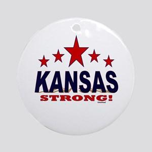 Kansas Strong! Round Ornament