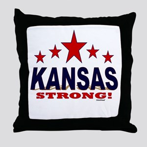 Kansas Strong! Throw Pillow