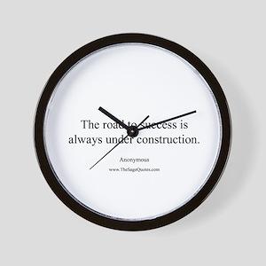 Road to Success Wall Clock