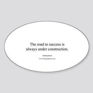 Road to Success Oval Sticker