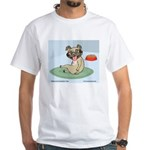 Pug on mat heavy T-shirt