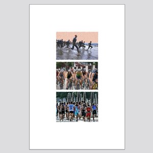 GROUP TRIATHLON TRIPTYCH PAINTING Large Poster
