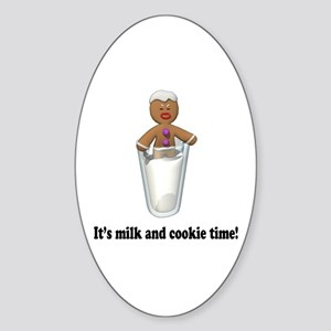 It's Milk and Cookie Time Gingerbreadman Sticker (