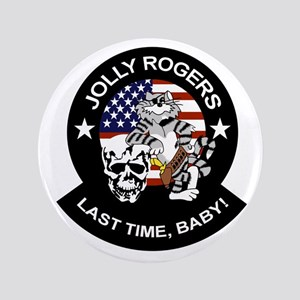 """VF-84 Jolly Rogers 3.5"""" Button"""