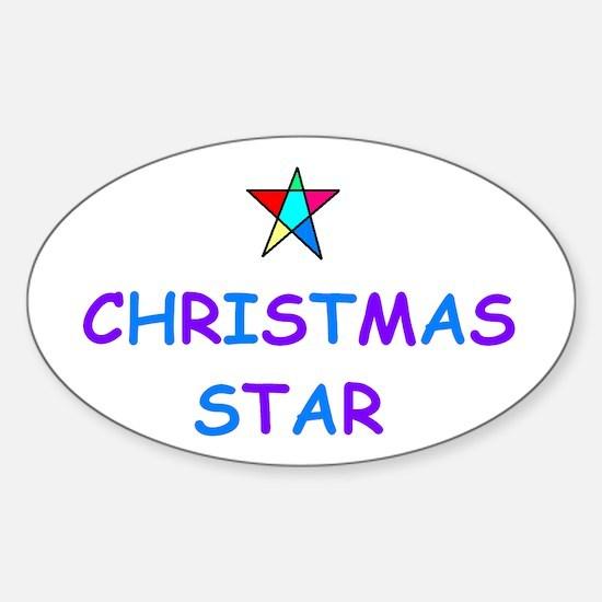 CHRISTMAS STAR Oval Decal