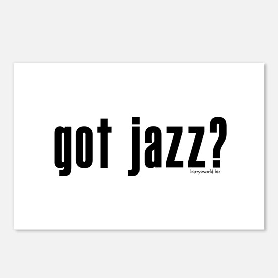 got jazz? Postcards (Package of 8)