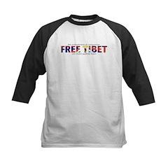 Free Tibet: Kids Baseball Jersey