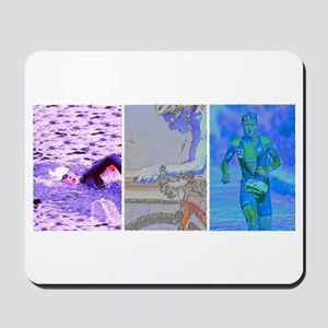 SOLO TRIATHLON TRIPTYCH PAINTING 2 Mousepad