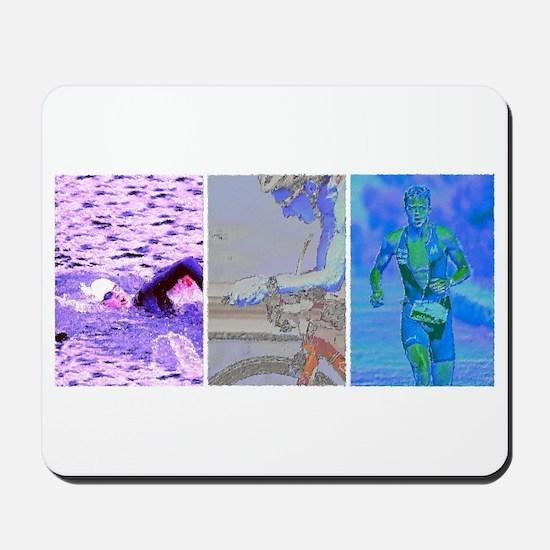 SOLO TRIATHLON TRIPTYCH PAINTING 2 Mousepad