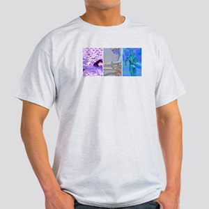 SOLO TRIATHLON TRIPTYCH PAINTING 2 Light T-Shirt