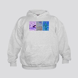 SOLO TRIATHLON TRIPTYCH PAINTING 2 Kids Hoodie