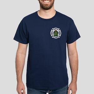 Firefighter Christmas Tree Dark T-Shirt