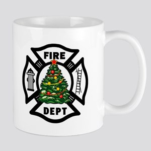Firefighter Christmas Tree Mug