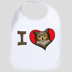 I heart owls Bib