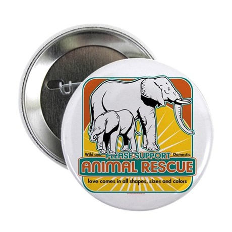 """Animal Rescue Elephants 2.25"""" Button (100 pack)"""
