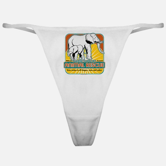 Animal Rescue Elephants Classic Thong