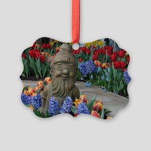 Garden Gnome Picture Ornament