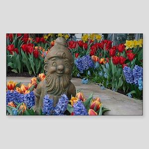 garden gnome Sticker (Rectangle)