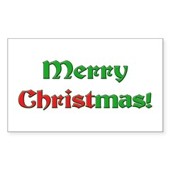 Christ in Christmas Rectangle Decal