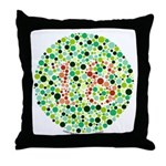 Color Blind Throw Pillow