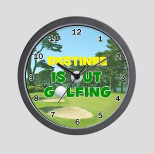 Destinee is Out Golfing - Wall Clock