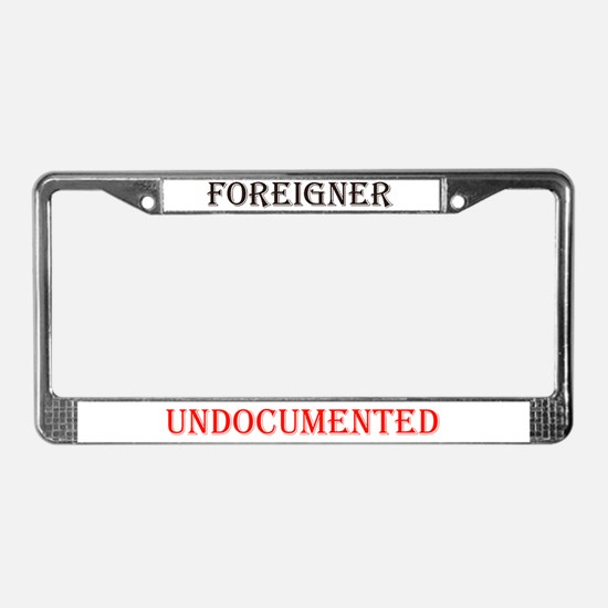 UNDOCUMENTED License Plate Frame