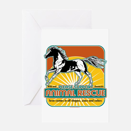 Animal Rescue Horse Greeting Card