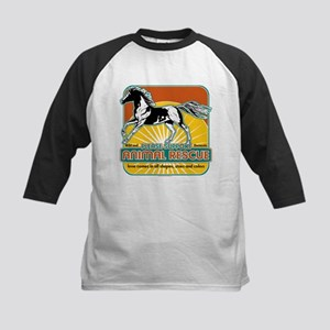 Animal Rescue Horse Kids Baseball Jersey