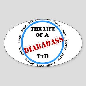 Life of a Diabadass Sticker