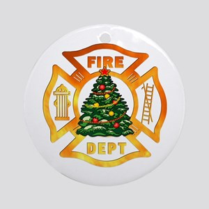 Firefighter Christmas Tree Ornament (Round)