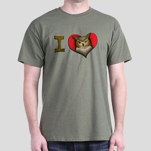 I heart owls Dark T-Shirt