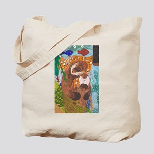 If Klimt Painted Otters Tote Bag