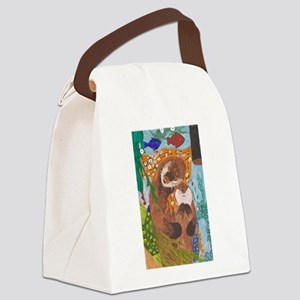 If Klimt Painted Otters Canvas Lunch Bag