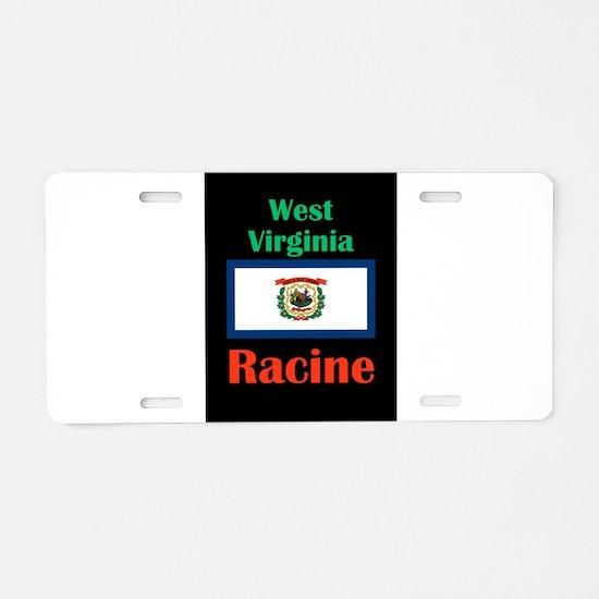 Racine West Virginia Aluminum License Plate