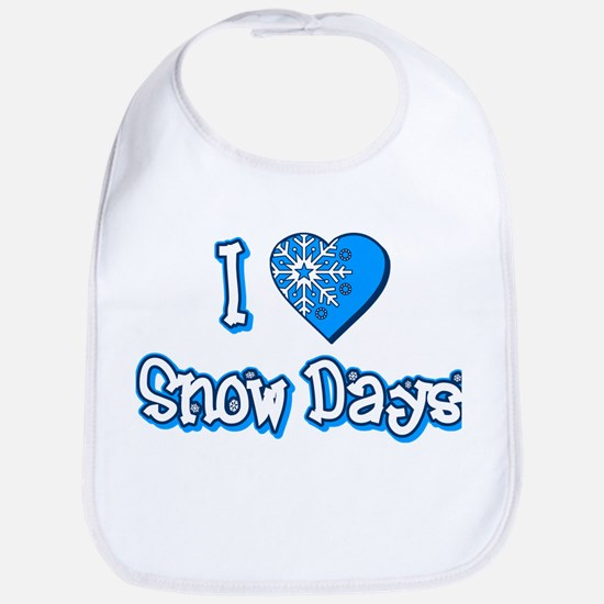 I Love [Heart] Snow Days Bib