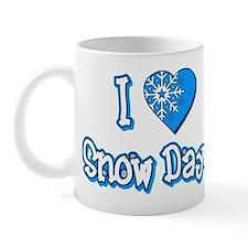I Love [Heart] Snow Days Mug