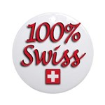 100% Swiss Ornament (Round)