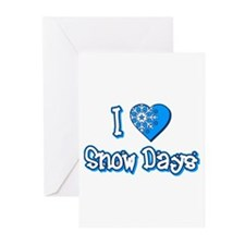 I Love [Heart] Snow Days Greeting Cards (Pk of 10)