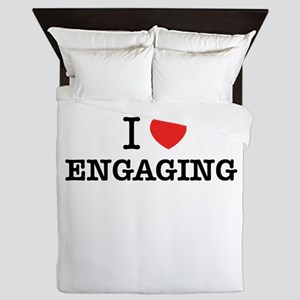 I Love ENGAGING Queen Duvet