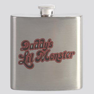 Inspiration Text - Daddy's Little Monste Flask