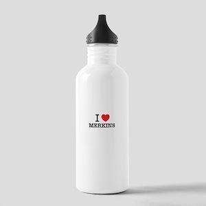 I Love MERKINS Stainless Water Bottle 1.0L