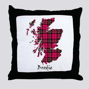Map - Brodie Throw Pillow