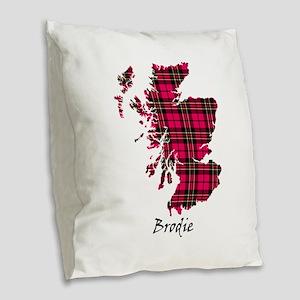 Map - Brodie Burlap Throw Pillow