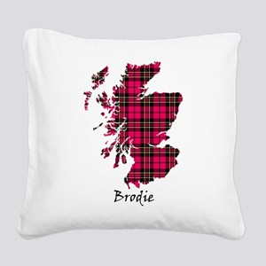 Map - Brodie Square Canvas Pillow